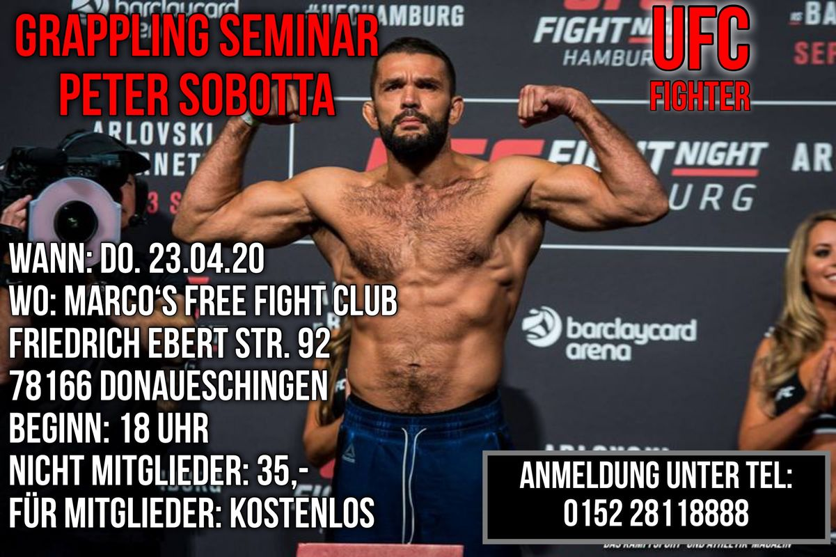 April 2020 MMA / Grappling Seminar mit Peter Sobotta